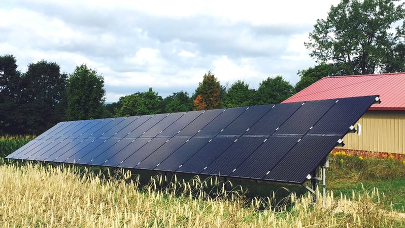 Ground Mount Solar Array Finger Lakes